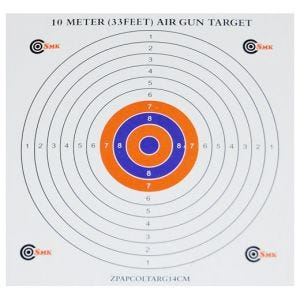 SMK Color Centre 14cm Paper Targets (100 Pack)