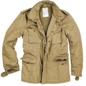 Surplus Paratrooper Winter Jacket Beige Washed