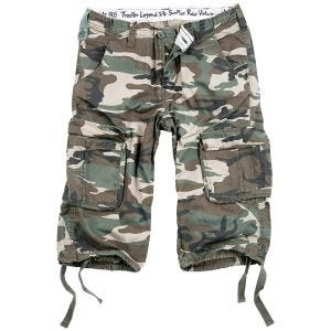 Surplus Trooper Legend 3/4 Shorts Woodland Washed