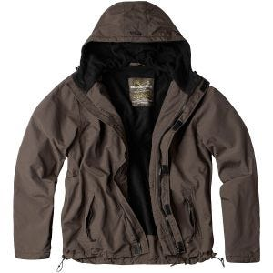 Surplus Windbreaker with Zipper Brown