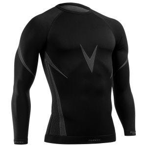 Tervel Optiline Shirt Long Sleeve Black/Grey