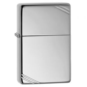 Zippo High Polish Vintage Chrome Lighter